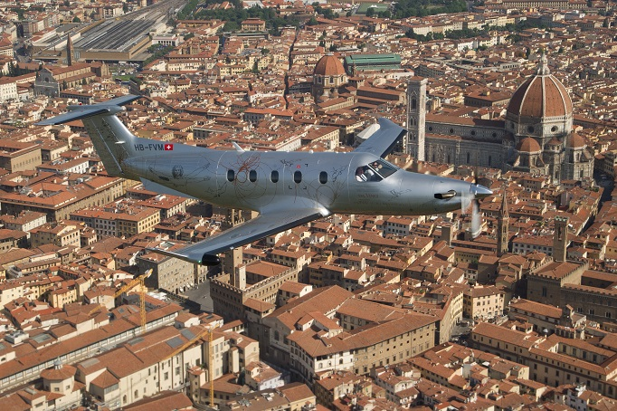 tour panoramico in jet privato su Firenze con pilatus pc-12